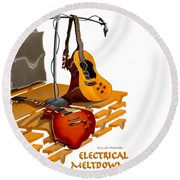 Electrical Meltdown Se Round Beach Towel
