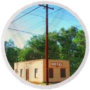 Electromagnetic Motel Round Beach Towel