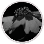 Elegance In Black And White Round Beach Towel