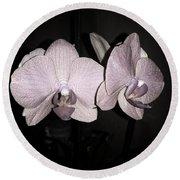 Elegant Orchid Round Beach Towel