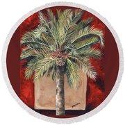 Elegant Palm Round Beach Towel