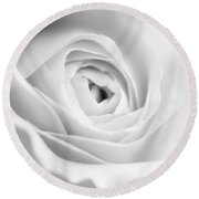 Elegant Rose Rendered In Black And White Square Round Beach Towel