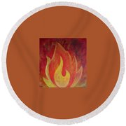 Element Of Fire Round Beach Towel