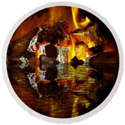 Element Reflections Round Beach Towel