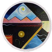 Elements Of Light Round Beach Towel