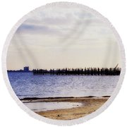 Elements On The Coast Round Beach Towel