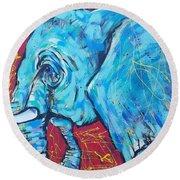 Elephant #4 Round Beach Towel