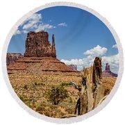 Elephant Butte - Monument Valley - Arizona Round Beach Towel