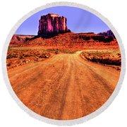 Elephant Butte Monument Valley Navajo Tribal Park Round Beach Towel