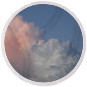 Elephant Cloud Round Beach Towel
