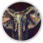 Elephant Ears Round Beach Towel
