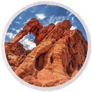 Elephant Rock, Valley Of Fire State Park, Nevada Round Beach Towel