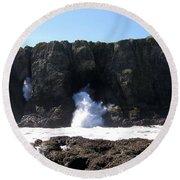 Elephant Rock Round Beach Towel