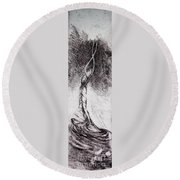Elevation Round Beach Towel