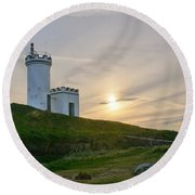Elie Lighthouse. Late Afternoon. Round Beach Towel