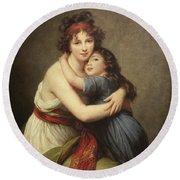 Elisabeth Vigee-lebrun, 1755-1842. Round Beach Towel