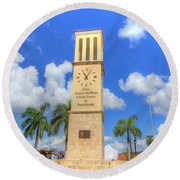 Eliza James-mcbean Clock Tower Round Beach Towel