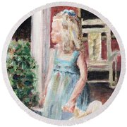 Elizabeth Anne Round Beach Towel