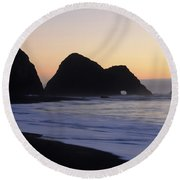 Elk Beach California Round Beach Towel by Bob Christopher