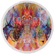 Elk Moon Round Beach Towel
