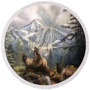 Elk Ridge Round Beach Towel