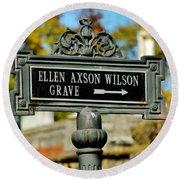 Ellen Axson Wilson Round Beach Towel