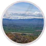 Ellensburg Valley With Sagebrush And Lupine Round Beach Towel