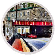 Ellicott City Round Beach Towel by Stephen Younts