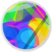 Ellipses 10 Round Beach Towel