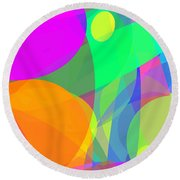 Ellipses 12 Round Beach Towel
