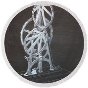Elliptical Gears Round Beach Towel