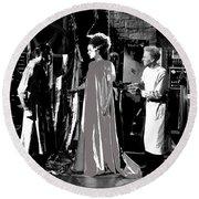 Elsa Lanchester Bride Of Frankenstein 4 1935-2015 Round Beach Towel