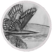 Elusive Beauty Round Beach Towel
