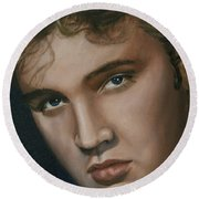 Elvis 24 1955 Round Beach Towel