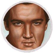 Elvis 24 1958 Round Beach Towel