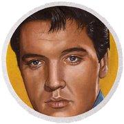 Elvis 24 1965 Round Beach Towel