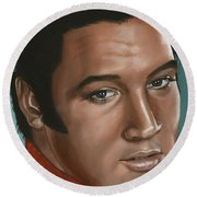 Elvis 24 1968 Round Beach Towel