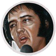 Elvis 24 1975 Round Beach Towel