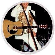 Elvis In Concert Round Beach Towel