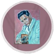 Elvis Presley Round Beach Towel