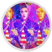 Elvis Presley Jail House Rock 20160520 Horizontal Round Beach Towel