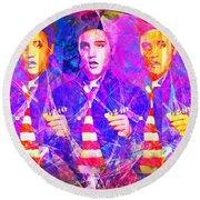 Elvis Presley Jail House Rock 20160520 Horizontal Round Beach Towel