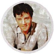 Elvis Presley Y Mb Round Beach Towel