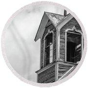 Ely Vermont Barn 1899 Barn Cupola Round Beach Towel