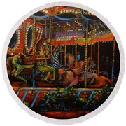 Embellished Carousel Round Beach Towel