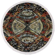 Embellished Texture Round Beach Towel