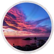 Ember Sunrise Round Beach Towel