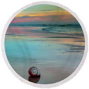Embrace Of Watercolor Round Beach Towel