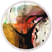 Embracing Secrets Panel One Of Two Round Beach Towel
