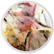 Embracing Secrets Panel Two Of Two Round Beach Towel